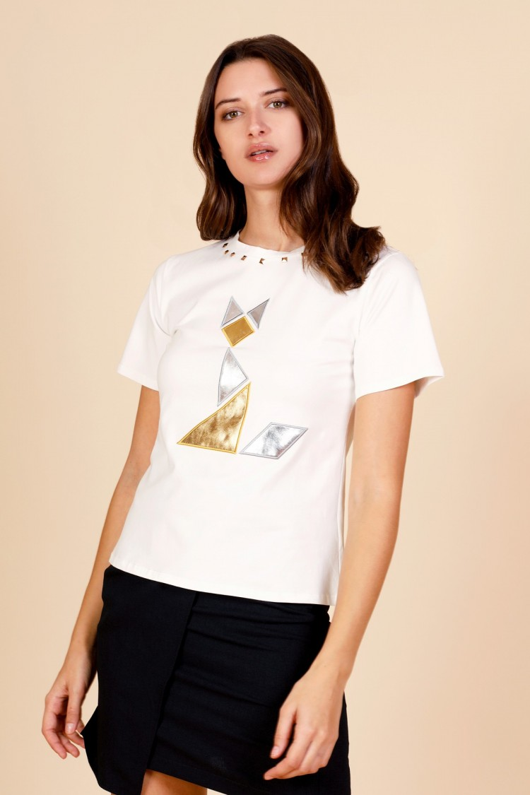 WHITE MINUETO T-SHIRT