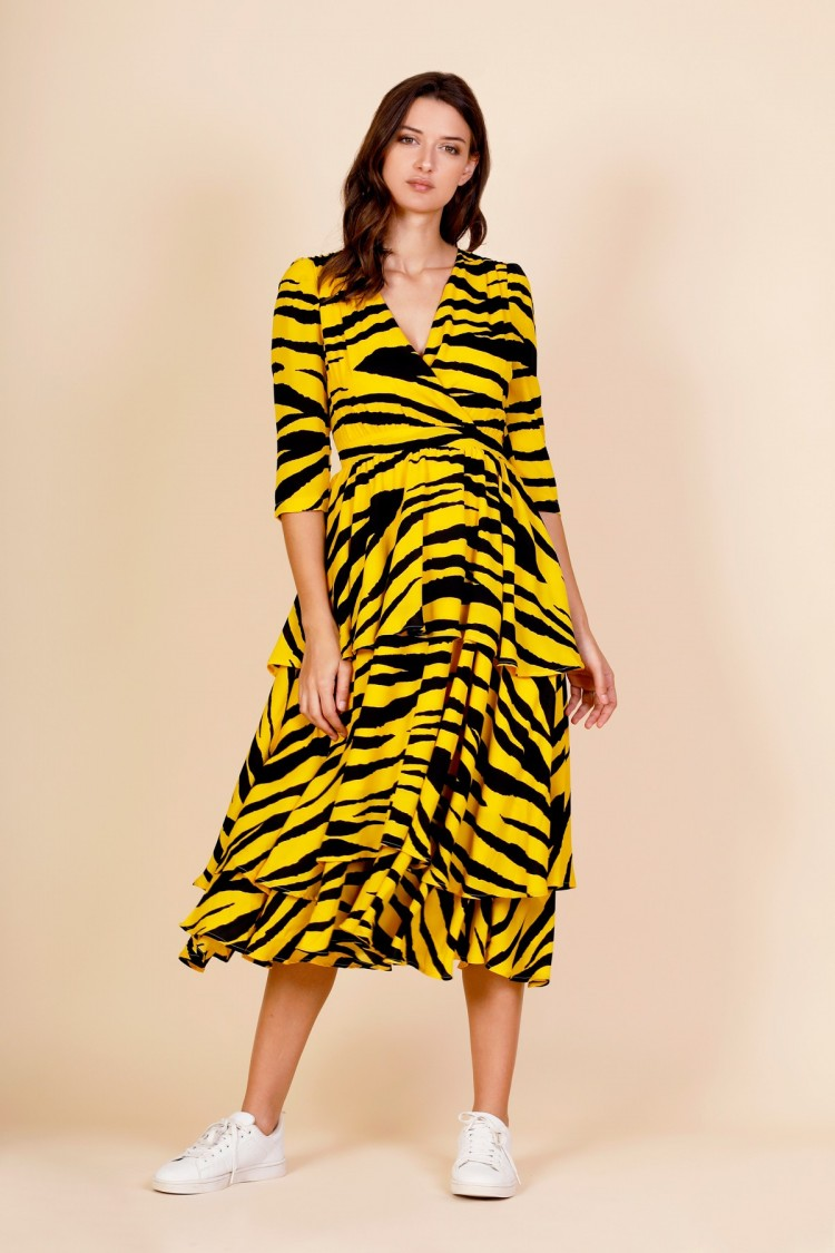 LONG TIGER DRESS