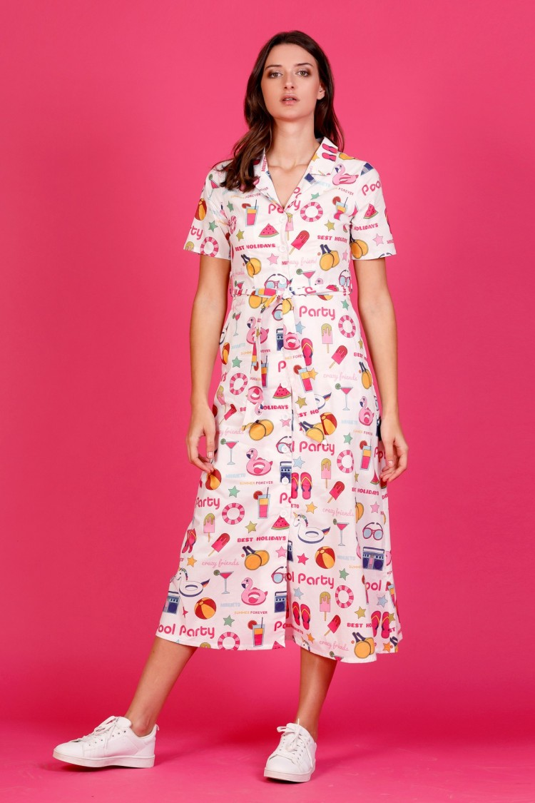 LONG BARBIE DRESS