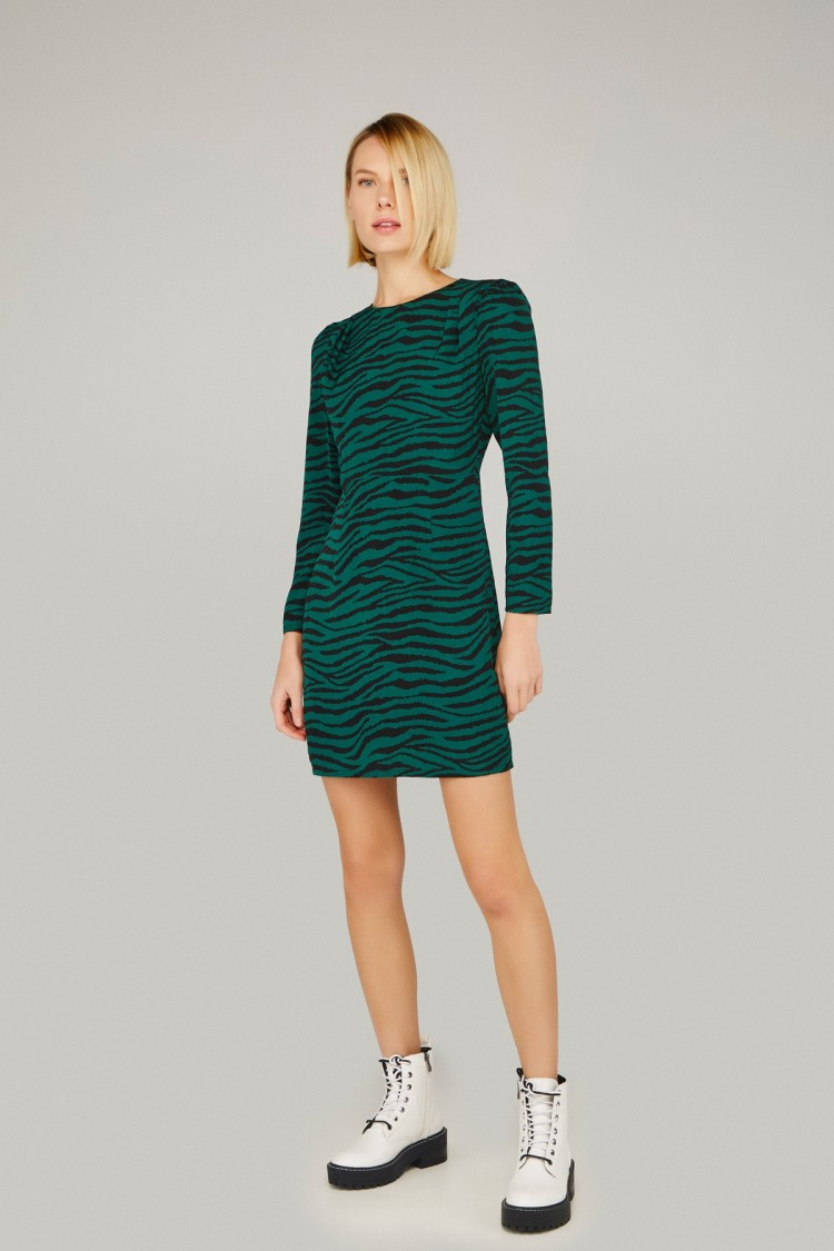 GREEN TIGER DRESS