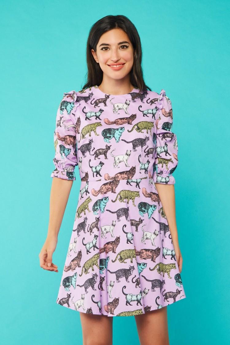 LILAC CAT DRESS