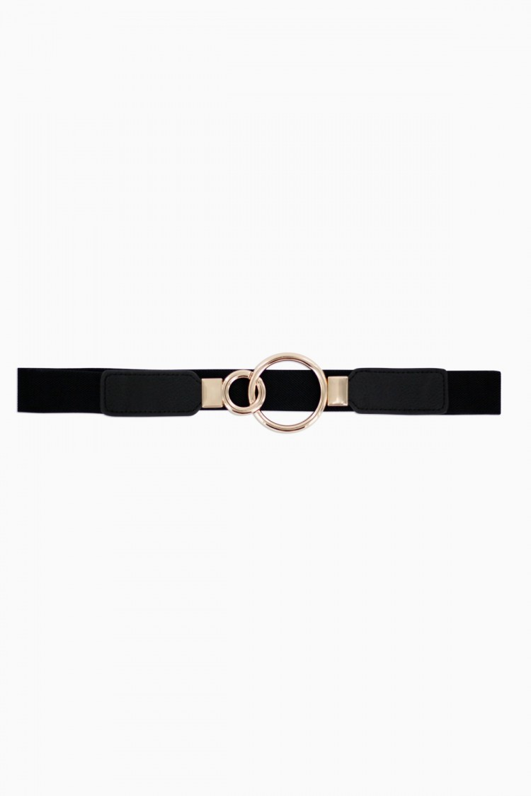 BLACK RINGS BELT