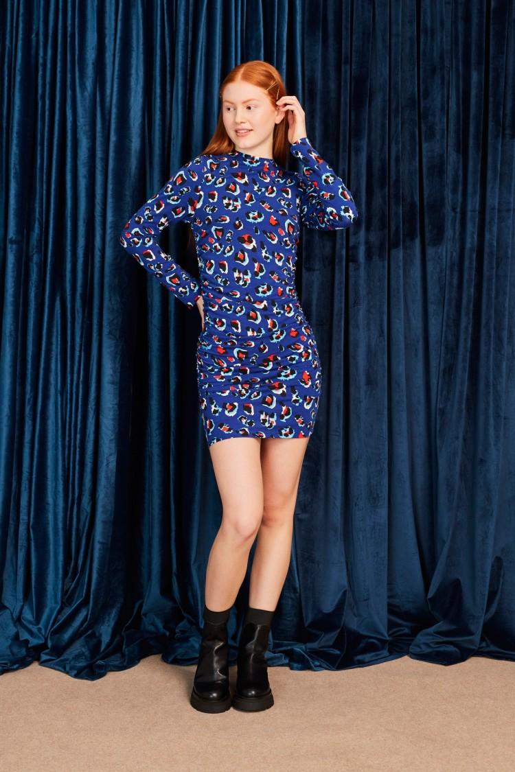 BLUE LEO DRESS